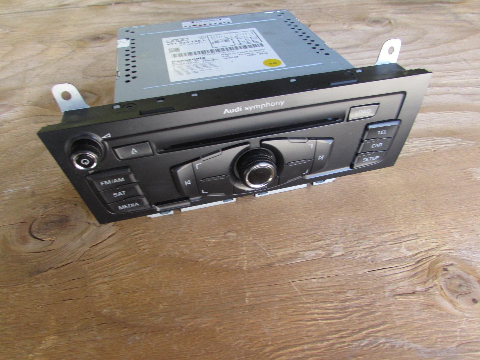 Audi OEM 09 A4 B8 6 Disc CD Player Radio Stereo Head Unit Receiver  Panasonic Symphony 8T1035195L