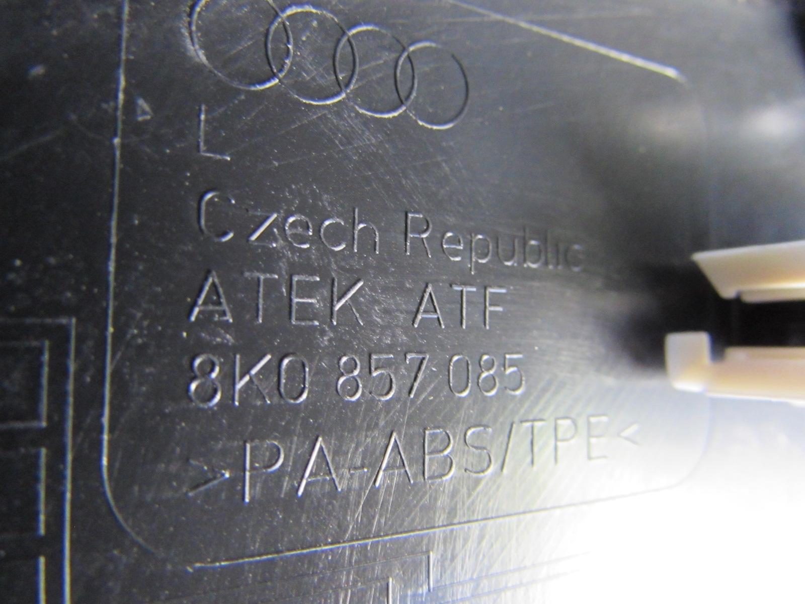 ... Audi OEM A4 B8 Dash Fuse Box Side End Cover Panel, Left 8K0857085 2009  2010