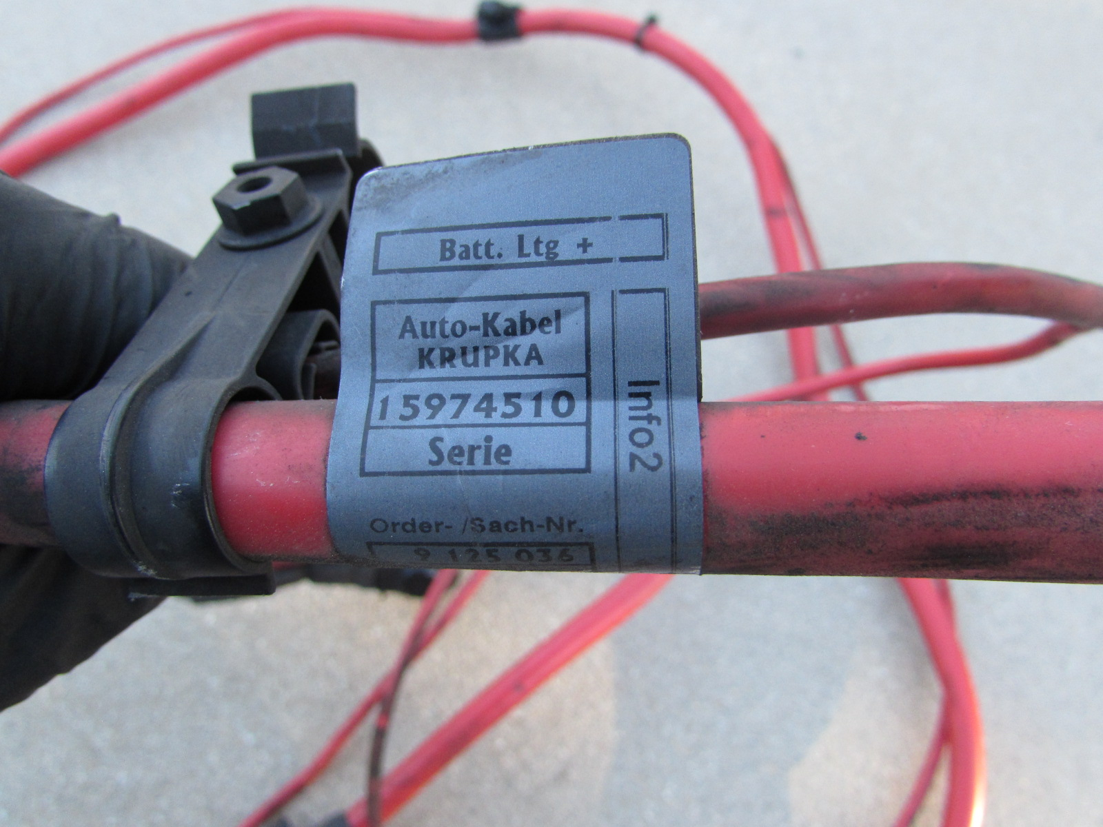 2012 Bmw 328i For Sale >> BMW Positive Battery Lead Cable Wire 61129125036 E90 323i ...