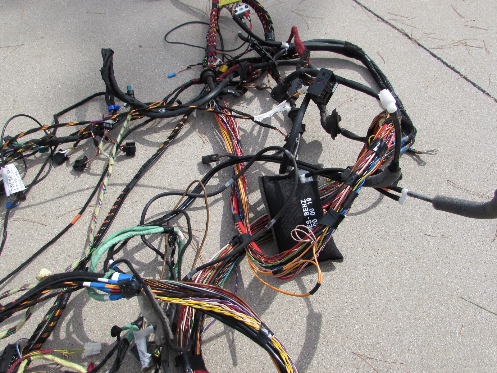cozad wire harness routing mercedes r171 body wiring harness, rear section, firewall ...