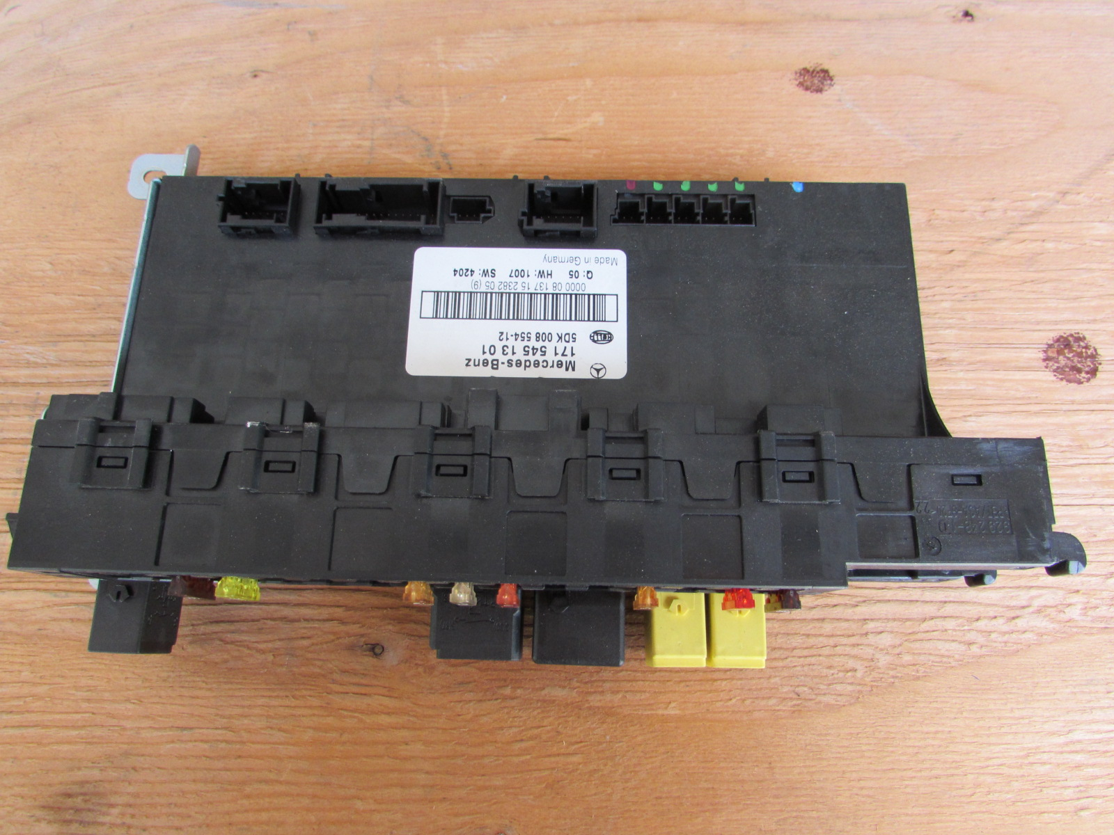 mercedes r171 electrical center fuse block box 1715451301 slk280 slk300  slk350 slk552