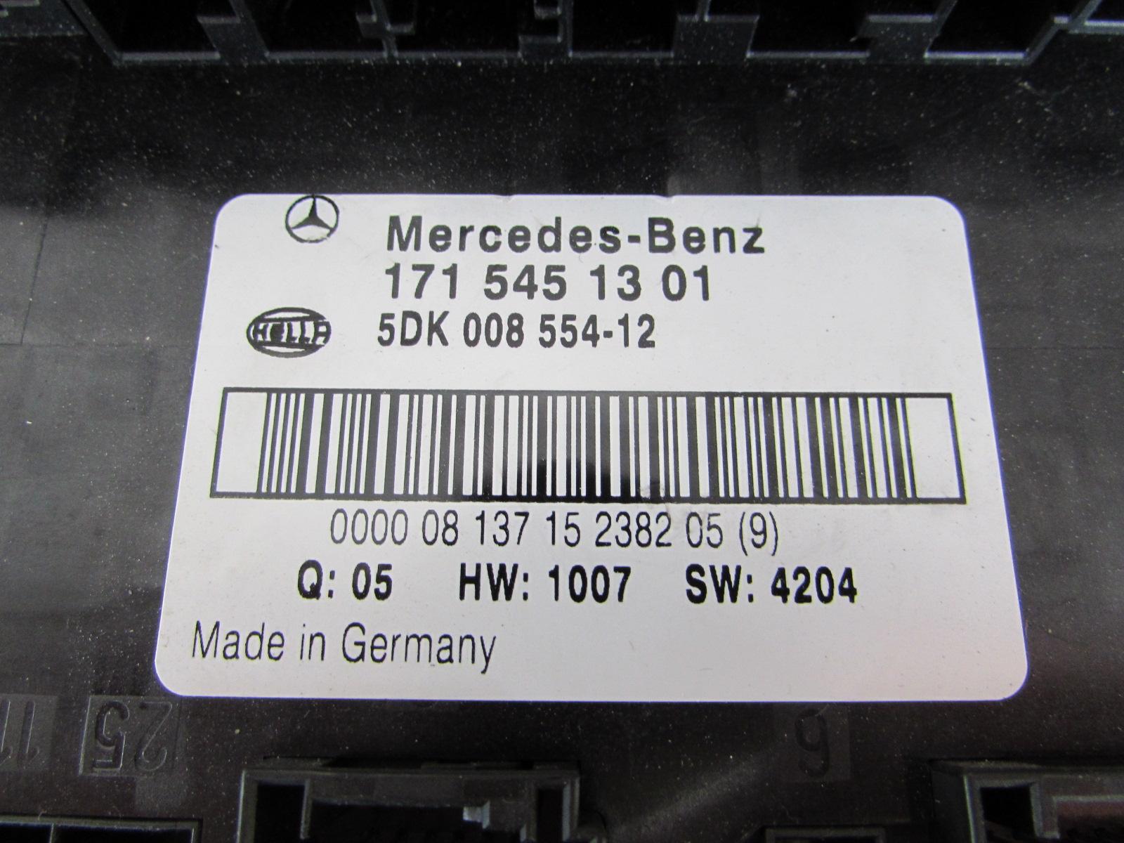 Mercedes R171 Electrical Center Fuse Block Box 1715451301 Slk280 Slk300 Slk350 Slk553