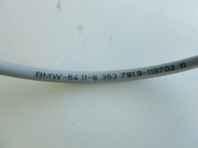 1997 BMW 528i E39 - Air Conditioning AC Bowden Cable 6411836379195