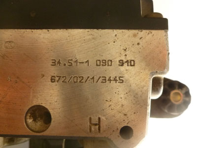 1997 BMW 528i E39 - Bosch ABS Brake Pump and Module (Hydro Unit ABS /ASC + T) 345110909105