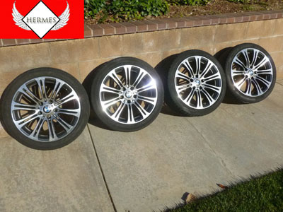 1997 BMW 528i E39 - Double Spoke 18x8 Inch Rims Wheels (Includes Set of 4 w/ Tires)