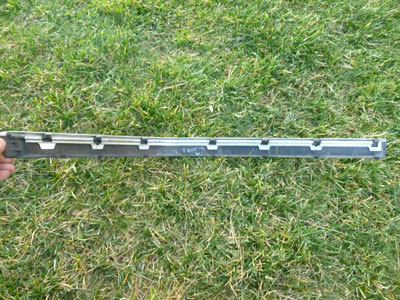 1997 BMW 528i E39 - Front Bumper Protective Moulding Trim w/ Chrome Strip, Left 511182265613