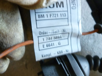 1997 BMW 528i E39 - Ignition Coil Wiring Harness 17445905