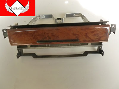 1997 BMW 528i E39 - Upper Instrument Carrier Radio Cover Flap w/ Wood Trim 51458184156