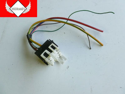 1997 BMW 528i E39 - White Relay Holder Connector w/ Pigtail 1389111