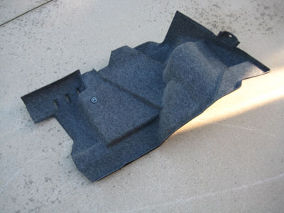 1998 BMW 328I E36 - Molded trunk carpet / trim panel left (drivers side)