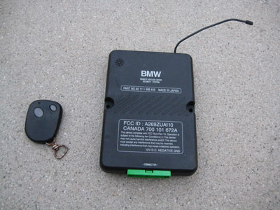 1998 Bmw 328i E36 Remote Keyless Entry Security System