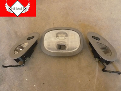 1998 Ford Expedition XLT - Headliner Roof Dome Reading Lights 3 Part Set