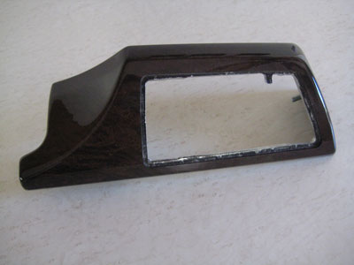 2003 BMW 745Li E65 / E66 - Dark Ash Left Vent Dash Wood Trim Panel