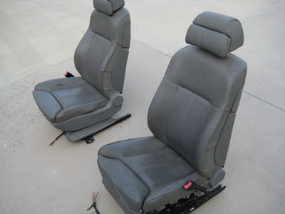 2003 BMW 745Li E65 / E66 - Front Seats Seat Heated AC Gray
