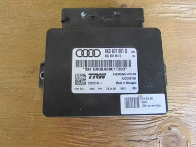 Audi OEM 09 A4 B8 Parking E Emergency Brake Control Module Unit 8K0907801D