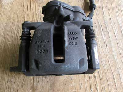 Audi OEM A4 B8 Brake Caliper w/ Parking Brake Motor, Rear Left Driver's Side 8K0405AC A5 Q5 Allroad 2008 2009 2010 2011 2012 2013 2014