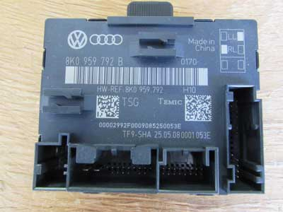 Audi OEM A4 B8 Door Control Module Unit, Front Right 8K0959792B 2009 2010 2011 S4