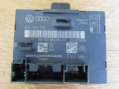 Audi OEM A4 B8 Door Control Module Unit, Rear Left 8K0959795 2009 2010 2011 S4