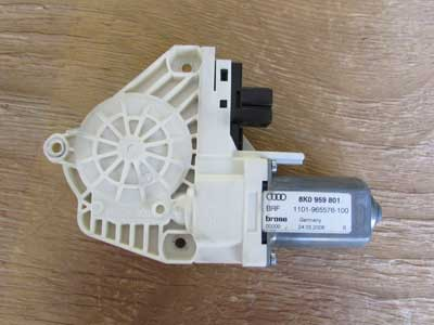 Audi OEM A4 B8 Door Window Regulator Motor, Front Left 8K0959801 2009 A5 S5 Q5