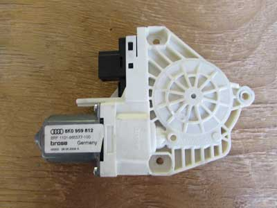 Audi OEM A4 B8 Door Window Regulator Motor, Rear Right 8K0959812 2009 2010 2011 2012 2013 2014 S4 Q5