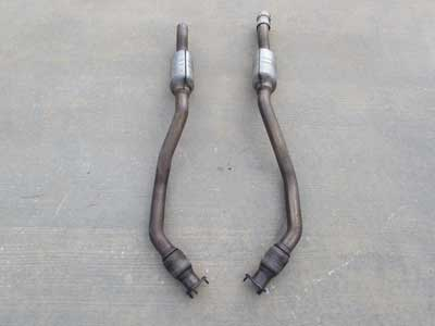 Audi OEM A4 B8 Exhaust Pipes w/ Catalysts Catalytic Converters CATS Mid Down Pipes (Includes Pair) 8K0254300G 3.2L 2009 2010 2011