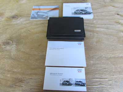 Audi OEM A4 B8 Owners Users Manual Guide Hand Book w/ Case 2009