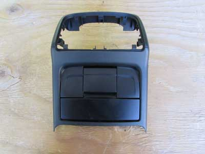 Audi OEM A4 B8 Rear Center Console Trim Panel Cover w/ Cubby Storage Tray and Lighter 8K0864376 2009 2010 2011 2012 S4
