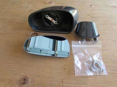 Audi TT MK1 8N Door Mirror, Left Dolomite Gray Pearl 8N0857535
