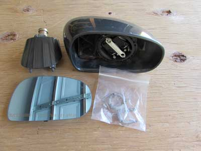 Audi TT MK1 8N Door Mirror, Right Dolomite Gray Pearl 8N0857536C