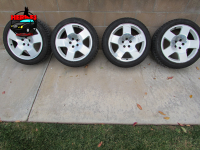 Audi TT Mk1 8N Fat 5 Phat Five Rims Wheels w/ Tires Falken Ziex 17 Inch  8N0601025H