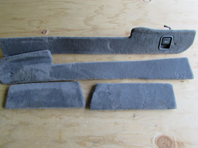 BMW Center Console Carpet Strips (Includes 4 Pcs) 51168223314 E65 E66 745i 745Li 750i 750Li 760i 760Li
