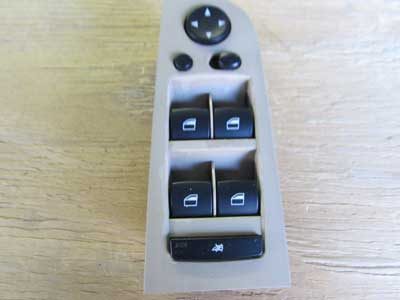 BMW Driver's Window Switch Console 61319132137 E90 E91 323i 325i 328i 330i 335i M3 Sedan Wagon Only
