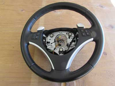 BMW Sport Leather Steering Wheel Multi Function W/ Paddle Shifters 32306795572 E82 E90 E84 128i 135i 323i 328i 335i X1