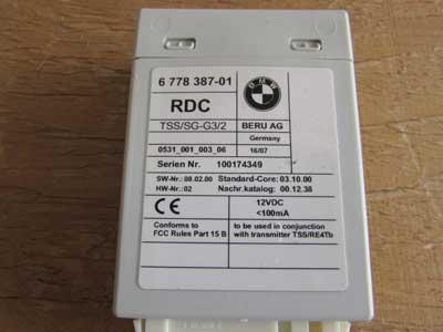 Bmw Tire Pressure Control Unit Rdc 36236778387 128i 135i