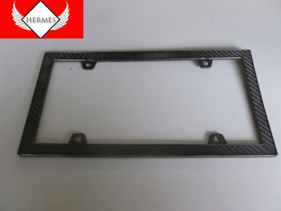 Carbon Fiber Design License Plate Frame
