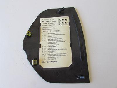 mercedes dash fuse box cover left 2086800178 w208 clk320. Black Bedroom Furniture Sets. Home Design Ideas
