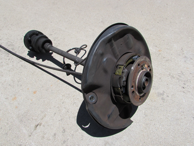 Mercedes knuckle wheel carrier hub axle assembly rear left for Mercedes benz axle assembly