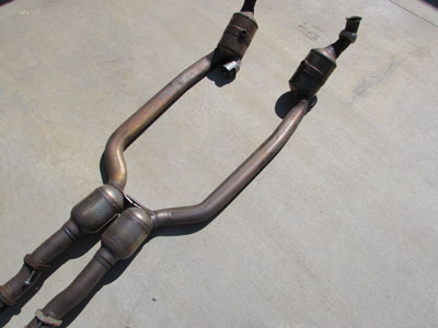 Mercedes R171 Front Exhaust Section CATS Catalytic Converters Silencers Y Pipe SLK350 A1714901914